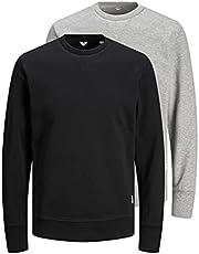Pack de 2 Sweatshirts Jack & Jones col ras-du-cou basic
