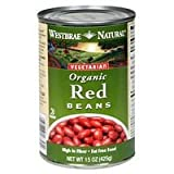 Westbrae Natural Vegetarian Organic Red Beans, 15 Ounce Cans (Pack of 12) ( Value Bulk Multi-pack)