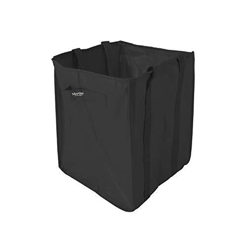 (MARTHA STEWART MTS-MLB1-MBK 48-Gallon Multi-Purpose Reusable Heavy Duty Garden Tote Bag, Black)