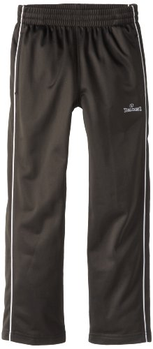 Poly Tricot Pant (Spalding Little Boys' Throwback Training Pant, Charcoal, 4)