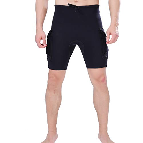 Allywit Wetsuit Shorts Pants for Mens Jammers Swimwear Swim 3mm Neoprene and Spandex Performance Black by Allywit (Image #1)