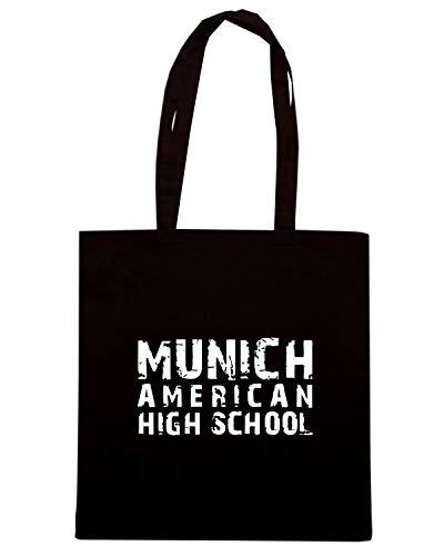 Speed Shirt Borsa Shopper Nera OLDENG00591 MUNICH AMERICAN HIGH SCHOOL