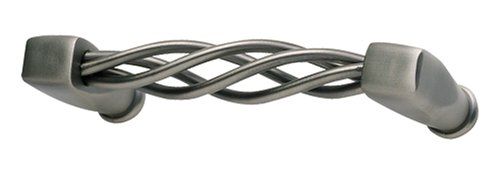 Atlas Homewares 30031-P 3-1/2-Inch Twisted Wire Pull, Pewter