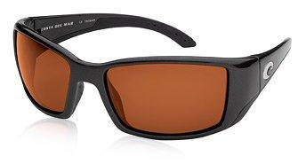 Costa Del Mar BL11OCGLP Blackfin Sunglass, Black - Shop Bass Sunglasses Pro