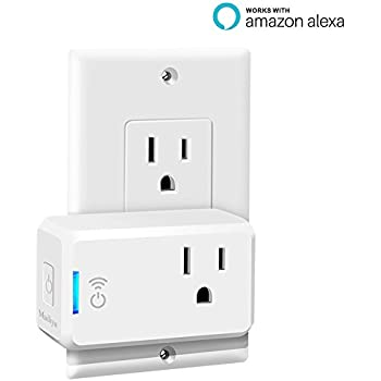 Mailiya Smart Plug Mini, Wi-Fi Switch Outlet Socket, No Hub Required, Works with Amazon Alexa, Wireless Remote Control your Devices from Anywhere, Mini Size Occupies Only One Socket - UL Listed