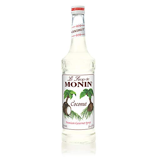 Monin - Coconut Syrup, Sweet and Rich, Great for Cocktails and Smooties, Gluten-Free, Vegan, Non-GMO (750 ml)
