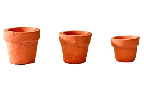 G & F Products G & F Miniature Fairy Garden Tiny Pots (Set of 3)