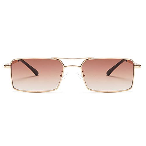 Vintage Sunglasses for Men Retro Women Mens Sunglasses Fashion Square Sun Glasses (Gradient Brown) ()