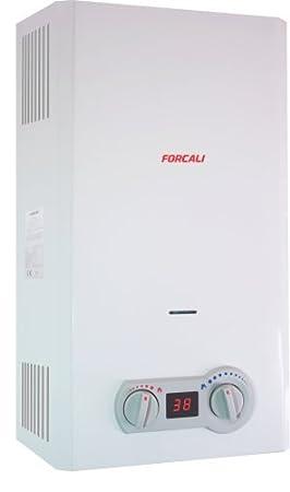 Forcali Calentador agua gas butano automatico: Amazon.es: Bricolaje y herramientas