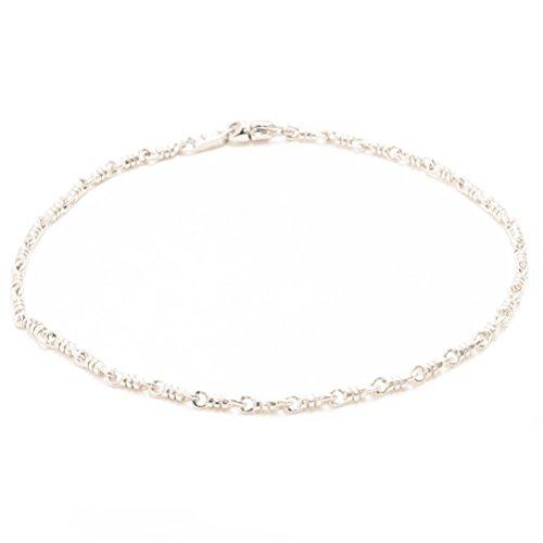 [해외]발목 장식 튜브 체인 남성용 남성용 실버 925로 지움 코팅 / Anklet Tube Chain Men`s Men`s Silver 925 Rhodium Coating