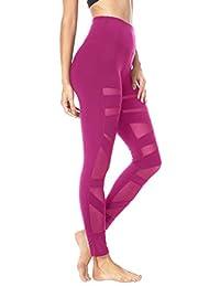 Queenie Ke Women Mesh Leggings Gym Yoga Tights High Waist Running Pants