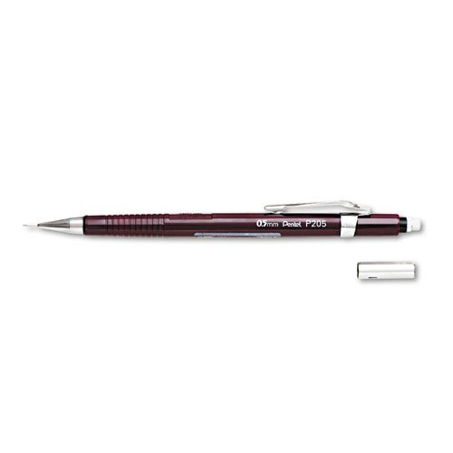 (Pentel Sharp Mechanical Pencil, 0.5mm, Burgundy Barrel, Each -  PENP205B)