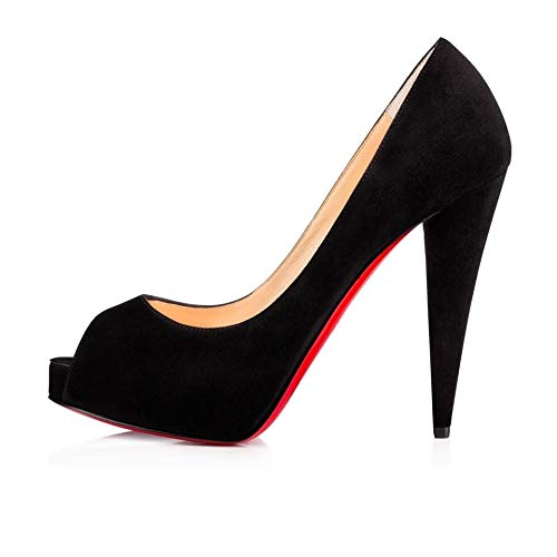 Christian Louboutin Black Very Conic Velours Pumps 120MM Size 38 $950 | New