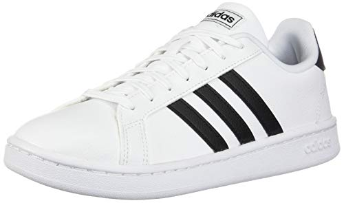 adidas Women's Grand Court, Black/White, 7.5 M US