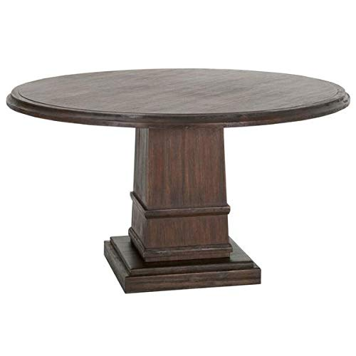 Rustic 54'' Round Meeting Table in Java Acacia