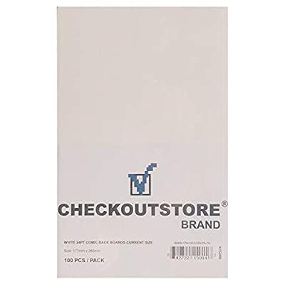 (1000) CheckOutStore Comic Books Backing Boards (Current Age - White): Office Products