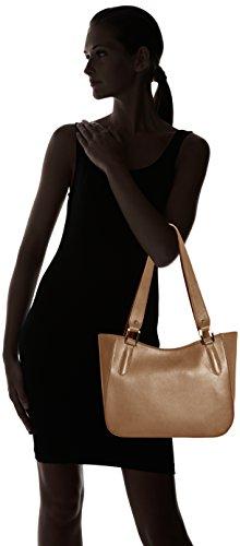 Fango Genuine Bag Donna Elegant Shoulder Grey CTM 34x23x10cm Leather Made Hand Italy 100 Borsa in Aqwfgg06
