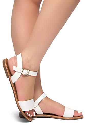 77238646987 Jual Herstyle Women s Keetton Open Toes One Band Ankle Strap Flat ...