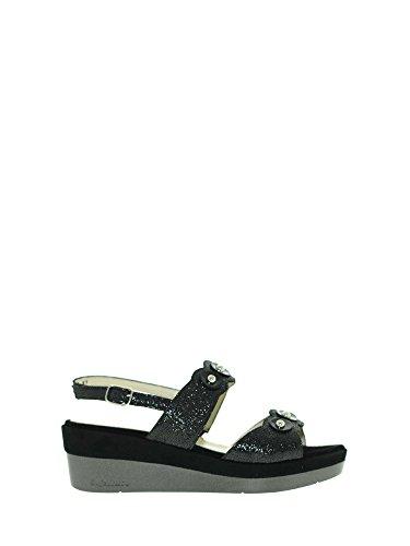 Melluso R70724 Sandales Compensées Femmes Noir