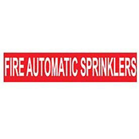 Pipe Marker - Pressure-Sensitive - Fire Automatic Sprinklers, 25 PK, Red, For Pipe Over -