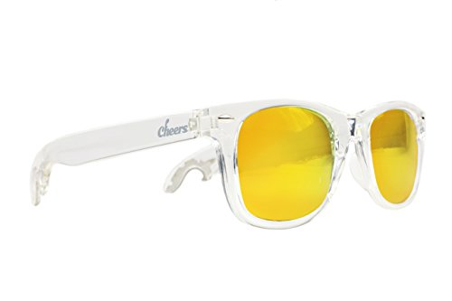 Cheers Sunglasses 1102CWW2 the Wildfires Cheers Bottle Opener Wayfarer Sunglasses, - Opener Beer Sunglasses