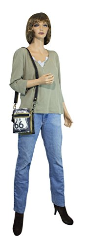 Sunsa Borse da Donna Vintage Borse 2in1 a tracolla Borsette in Canvas / Telo olona con pelle 51862