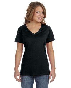 Anvil Women's Sheer V-Neck T-Shirt