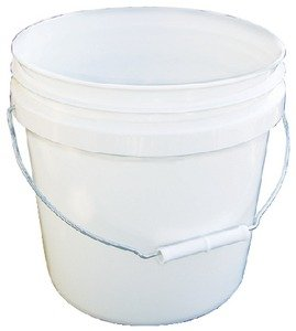 Encore Plastics 20256 Industrial Plastic Pail White with Handle, (2 Gallon Plastic Pail)