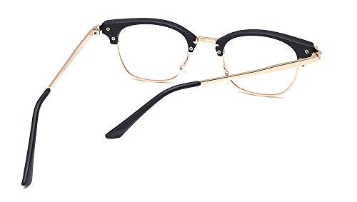 864a435f77 Jual ALWAYSUV Retro Metal Semi-Rimless PC Clear Lens Unisex Glasses ...