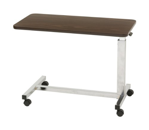 (Drive Medical Low Height Overbed Table, Walnut)