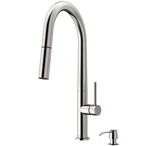 VIGO Greenwich Stainless Steel Kitchen Faucet with Soap Dispenser California Faucets Stainless Steel Soap Dish