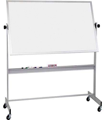 Deluxe Reversible Markerboard, Dura-Rite Dry Erase Surface Both Sides Non Magnetic, Whiteboard Panel Size 4'H x 8'W 668AH-HH by Best-Rite