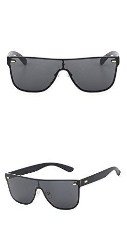Película Sol Personalidad Gafas Gafas Calle Sol siamesas Moda UV Brillante Oro Lente Marco de Gris de Gafas de Moda Aire marco RFVBNM de de al Libre de Sol Lente Moda gris Color dorado 7qwxz8vU5
