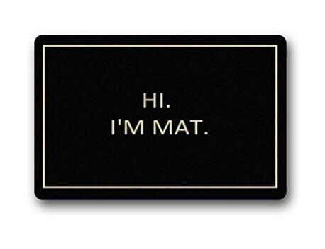 Jiao87 Custom Hi I'm Mat Indoor/Outdoor Doormat Welcome Mat Rug Cover Sign Outdoor Indoor Floor Mat 23.6