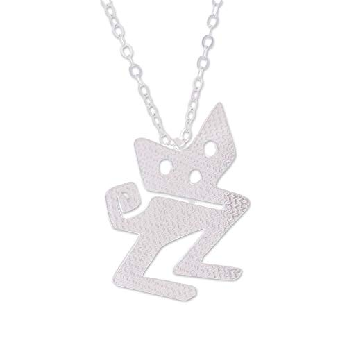 - NOVICA .925 Sterling Silver Pendant Necklace, 19.75