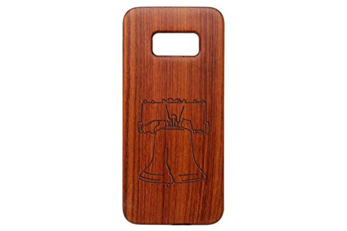 NDZ Performance for Samsung Galaxy S8 Rosewood Wooden Phone Case Custom Engraved - Liberty Bell ()