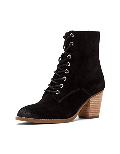 Frye and Co. Women's Allister Lace Up Ankle Boot, Black, 5.5 M US (This Moment Black Suede Lace Up Heels)