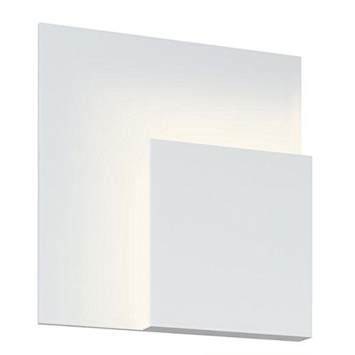 Sonneman 2369-98 2369.98 Contemporary Modern LED Wall Sconce from Corner Eclipse Collection in White Finish