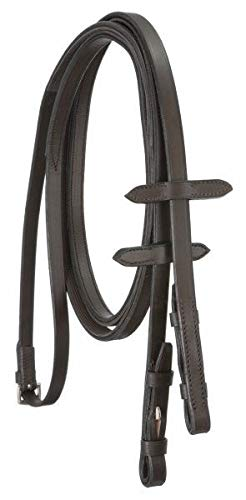(Silver Fox English Reins with Rubber Grip - Brown)