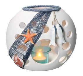 HS Nautical Candle Holder - Netting Hs