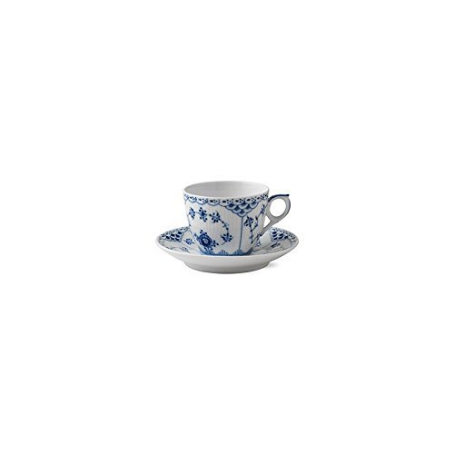 Blue Fluted Half Lace 5.75 oz. Cup and Saucer by Royal Copenhagen