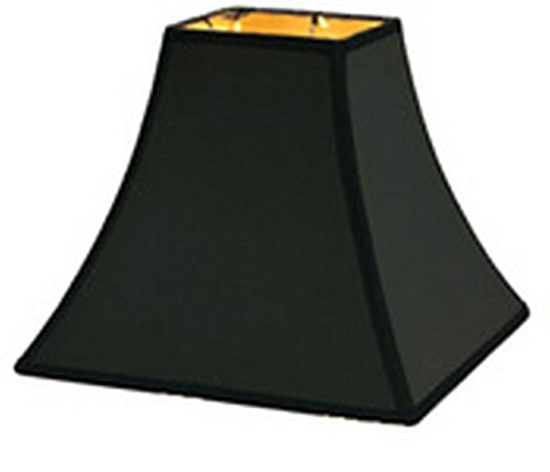 Gold Replacement Shade - Upgradelights CCS Black Silk with Gold Lining Replacement Lamp Shade for Candle Stick Lamps