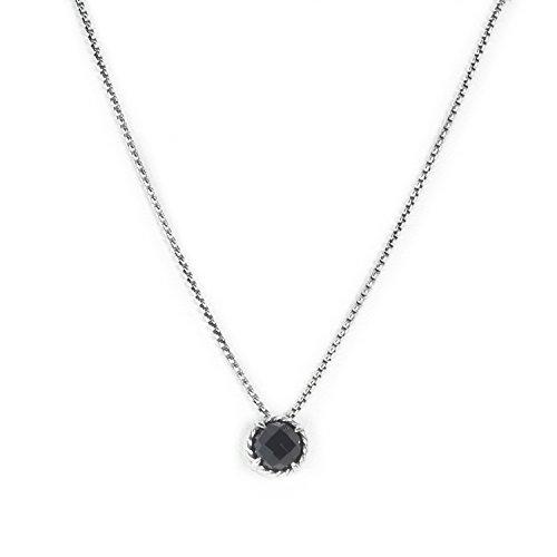 DAVID YURMAN Women's Chatelaine Pendant Necklace w/ 8mm Black Onyx -