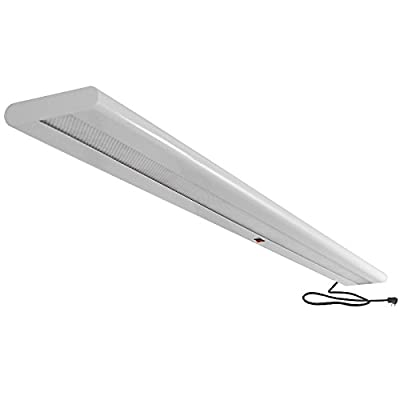 "Overhead Steel LED Light Fixture, 48"" Length"