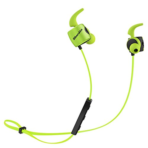 Click to buy Bluedio TE (Turbine) Bluetooth 4.1 Wireless Sports Headphones, Sweatproof Running Earbuds with Mic stereo bass magnetic headset (Green) - From only $14.99