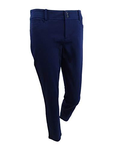 RALPH LAUREN Women's Cropped Pants (4P, Navy) (Cropped Trousers Ralph Lauren)