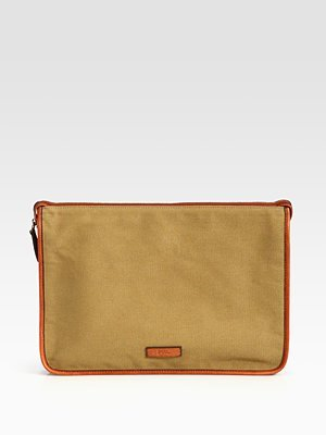 Polo Ralph Lauren Accessories, Canvas Folio Khaki One Size by