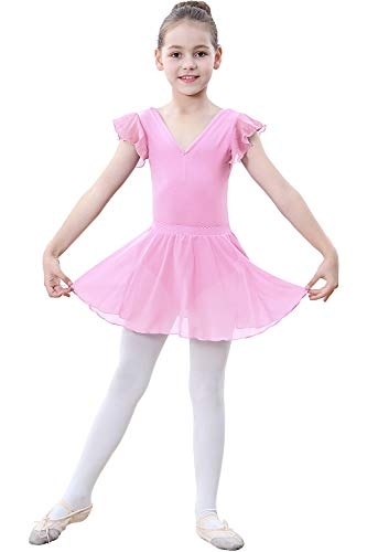 ZOEREA Girls Ballet Dress (Pink, Label 105/ Advise Height: 39.76-41.33 inches)