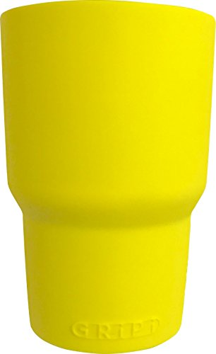 GRiPi Sleeve for YETI Cooler Tumbler (Yum Yum Yellow) Silicone Grip for 20 oz. or 30 oz. Drinks | Colorful, Personalized Insulated Cup Cover
