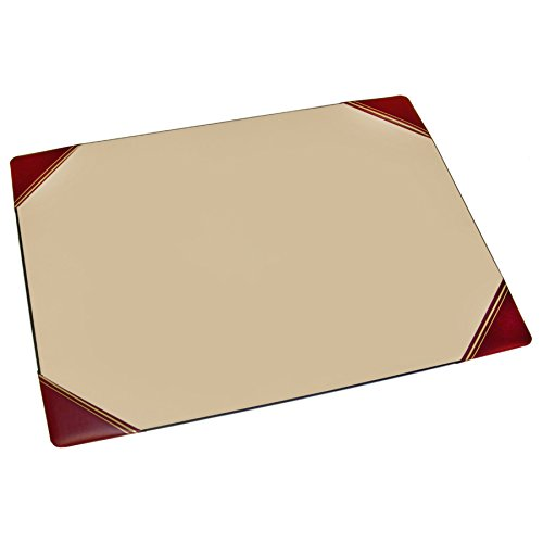 "Artistic 19""x24"" Desk Pad with Flexible Base Corner Slots, Burgundy (240-4)"
